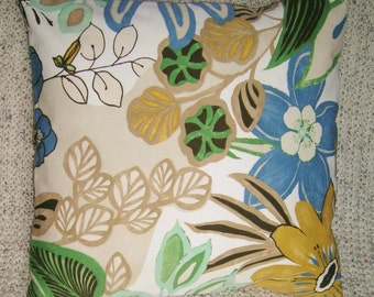 Modern Summer Beach Print Reversible Pillow Cover
