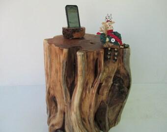 Reclaimed Wood Utah Juniper Stump Table