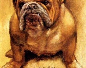 Wall Plaque Vintage English bulldog   Sign 11x14