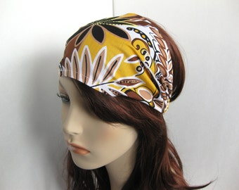 Bohemian Headband Gypsy Headband Hippie Headband Hair Bandana Boho Headband Black Brown Yellow White Hair Accessories Gift for Her