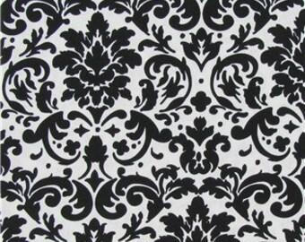 Black and white damask 1 yard