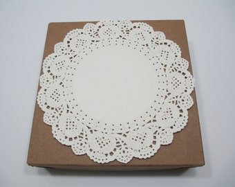 """Ivory Doilies, Ivory Doily, Ivory Paper Doilies, 100 IVORY 6.5"""" Paper Lace Doilies, CLOSEOUT SALE"""