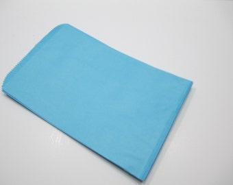 Blue Paper Bags, Blue Gift Bags, SALE - 100 Light Blue 6x9 Paper Gift Bags, Merchandise Bags, Favor Bags, Wedding Shower Bags, Treat Bags