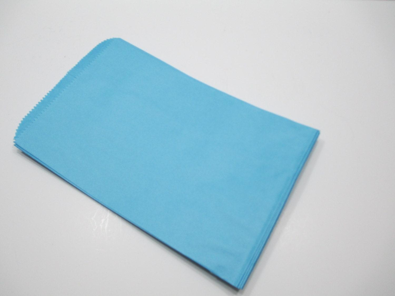 Blue Paper Bags, Blue Gift Bags, SALE - 100 Light Blue 6x9 Paper ...