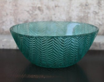 Blue, Vintage Glass Patterned Bowl
