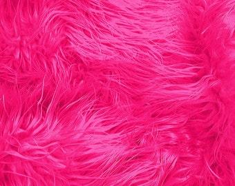 Half Yard Hot Pink Mongolian Shag