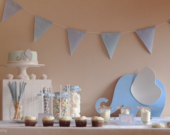 Printable party pack Grey Elephant