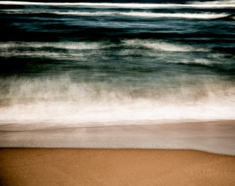 Beach Fine Art Photography - Modern Ocean Waves Wall Art - South African Artwork Sea Surreal Abstract Color Photography