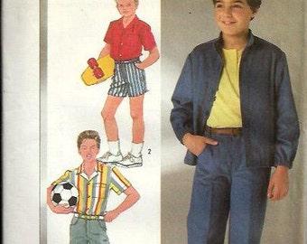Boys Pants, Shorts, Shirt and Jacket Pattern, Simplicity 7675, Size 10 UNCUT