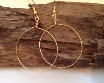Delicate, Gold, Hoop Earrings