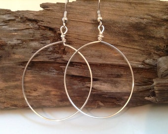 Delicate Silver Hoop Earrings