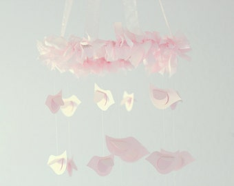 Pink Bird Nursery Mobile- Baby Mobile, Crib Mobile, Baby Shower Gift