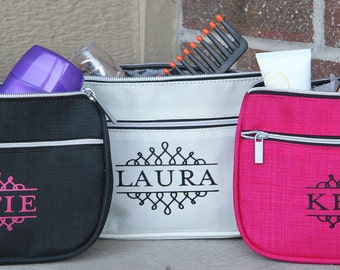 Personalized Cosmetic Bag /  Personalized Toiletry Bag - Bride, Bridesmaid Gifts, Teach Gifts, Great for friends too!