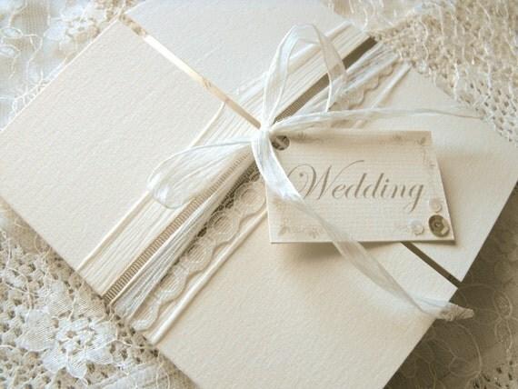 Hochzeitseinladung spitze mokka for Hochzeitseinladungen vintage mit spitze