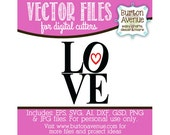 LOVE Vector Digital Cut File (eps,svg, gsd,dxf, ai, jpg, png)