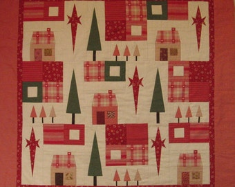 Christmas patchwork quilt / Home for Christmas / Patchwork quilt KIT with instructions and fabric