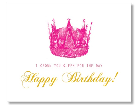 HILARIOUS QUEEN Happy BIRTHDAY card Handdrawn Eco – Tacky Birthday Cards
