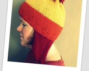 Handmade Jayne Cobb Firefly Knitted Hat Brick Earflaps