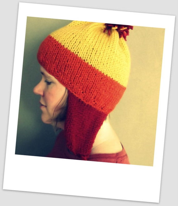 Knitting Pattern For Jayne s Hat Firefly : Handmade Jayne Cobb Firefly Knitted Hat Brick Earflaps