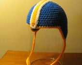 Crocheted Baby Football Team Helmet