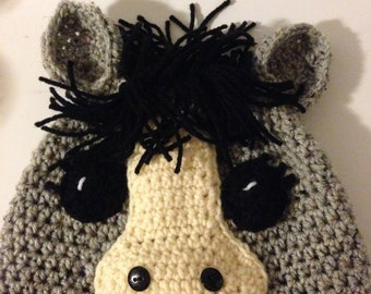 Friendly Horse Crochet Hat Pattern