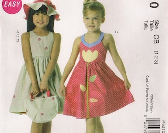 McCall's Sewing Pattern M6310 - Children's Dresses, Hat, and Tote Bag (1-3, 4-6)