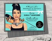breakfast at tiffany's invitation invite tiffany and co. hens night shower bachelorette party birthday