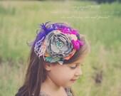 Baby Headband- Baby Girl Headband- Persnickety Headband- Matilda Jane Headband- Flower Girl Headband-Fall Wedding