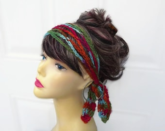 Crochet Headband Chain Headband Womens Crochet Headband Hippie Headband Crochet Boho Headband Boho Chain Headband