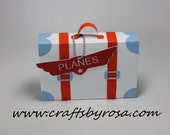 Suitcase Favor Box for Planes party