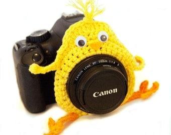 Camera Chick,  Photo Prop Lens Chick, Small Lens Critter, Lens Birdie, Camera Buddy, Photographer Gift, Animal Lens Buddy,Photography Helper