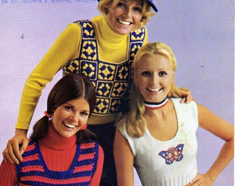 Beehive Mini-Tops Knit and Crochet Pattern for Teens and Ladies