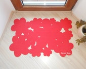 Decorative flowers rug. Spring custom doormat.