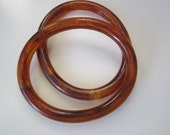 Unique Oval Shaped Root Beer Swirl Bangles
