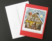 "Christmas Card - Set of 8 - ""Father Fox's Pennyrhymes"" - FREE SHIPPING"