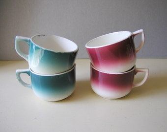 4 Digoin lovely french cups