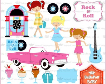 Rock & Roll Clip Art ---- Personal and Small Commercial Use ---- BB 0376