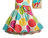 colorful rosette cake 6x4 match the dress