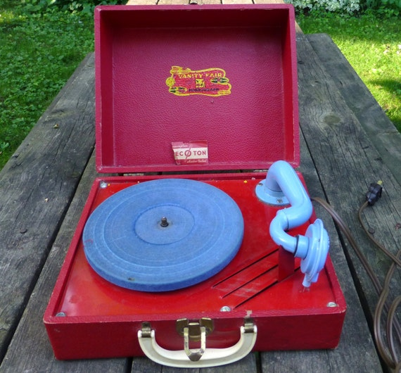 Vintage Vanity Fair 78 Record Player Phonograph 1950s Or