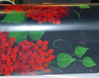 Red Hydrangea Mailbox