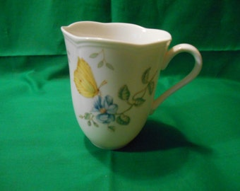 "One (1), 4 1/4"" Tall, Lenox Mug, with a Dragonfly Design."