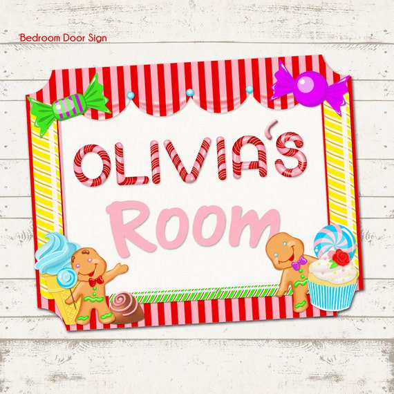 Candy Land Themed Children's Bedroom Door Sign Candy