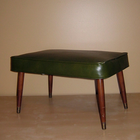 Vintage Mid Century Modern Bench Ottoman Foot By