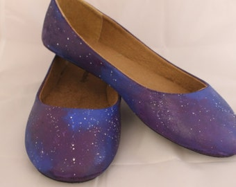 Galaxy Hand Painted Flats