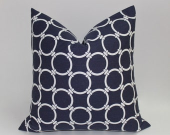 Navy & white  pillow cover, modern geometric design, pillowcover home decor