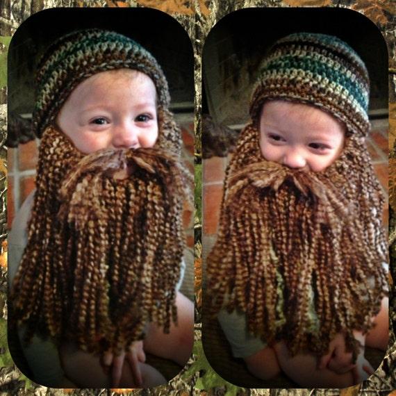 Duck Dynasty Crochet Hat & Beard PATTERN PDF All sizes