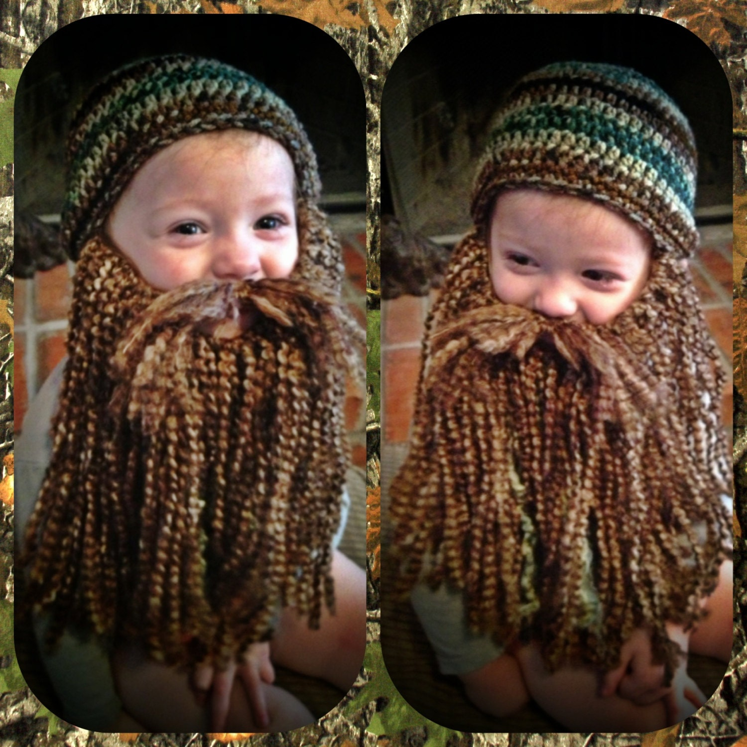 Duck Dynasty Crochet Hat & Beard PATTERN PDF All sizes