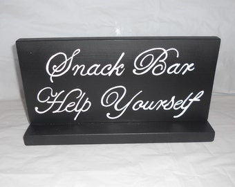 Snack Bar Wedding Table Top Sign/ Decoration