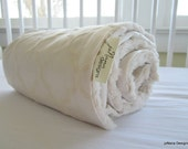 "STROLLER BLANKET: neutral baby bedding, baby blanket, ""Oatmeal & Cream""  Cotton Luxe, luxurious minky, Custom Made to Order"
