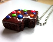 Brownie Necklaces - Handmade Polymer Clay Charms - Dessert Charms - Sweets Necklace - Kawaii Necklace - Cute Necklace - AGirlandHerClay